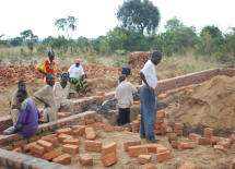 Work progresses on the foundation of the library.