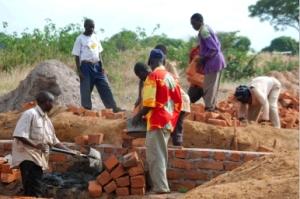 Work with bricks, May 2007