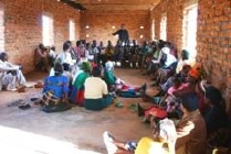 One of the first meetings in the new NKhanga Village Library.